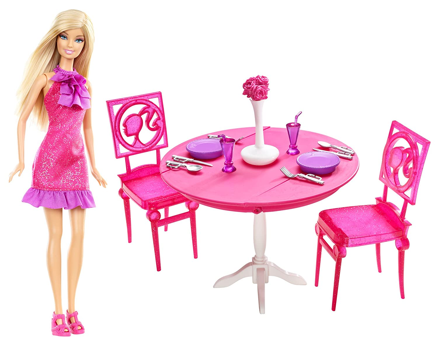 Mattel Barbie Doll and Dining Room Gift Set X4933