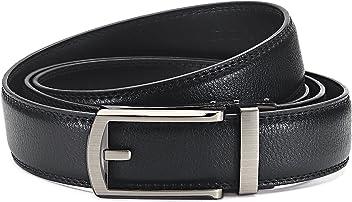 Eg-Fashion Herren Anzug Gürtel Automatikgürtel aus Leder 3cm Breite - Dornschließen-Optik - Individuell kürzbar