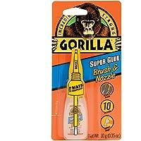 Gorilla Super Glue with Brush & Nozzle Applicator, 10 Gram, Clear