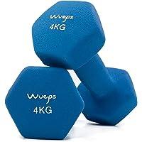 Wueps™ | Pesas y Mancuernas de Neopreno Disponibles en 2Kg/ 3Kg/ 4Kg/ 5Kg/ (Vendido en Pares) para Hacer tu Gimnasio en…