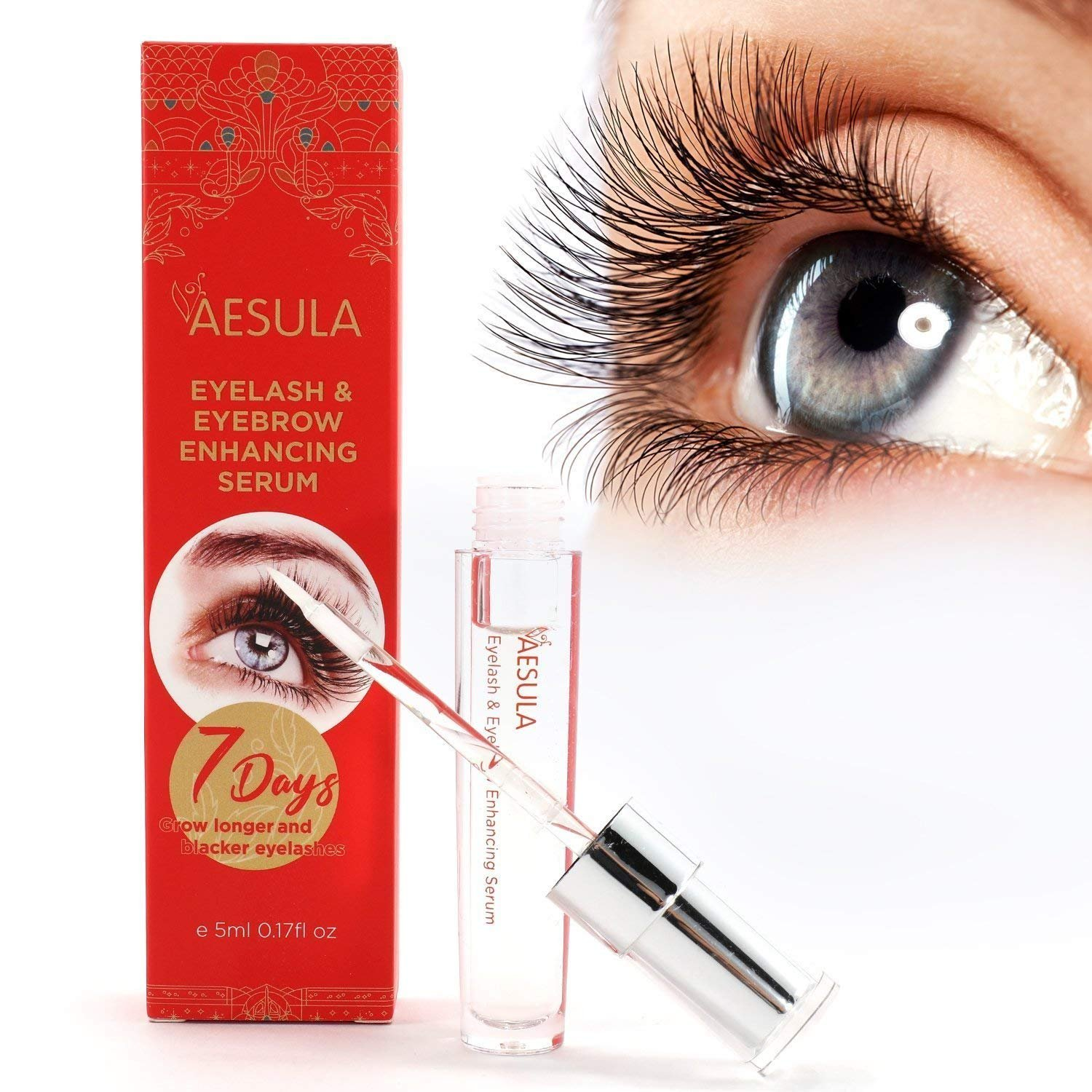 [Upgraded] Aesula Eyelash Growth Serum, Enhancer Great For Eyelash Growing, Thickening and Strengthening of Eyelashes, Best Eyelash Growth Serum for 2018