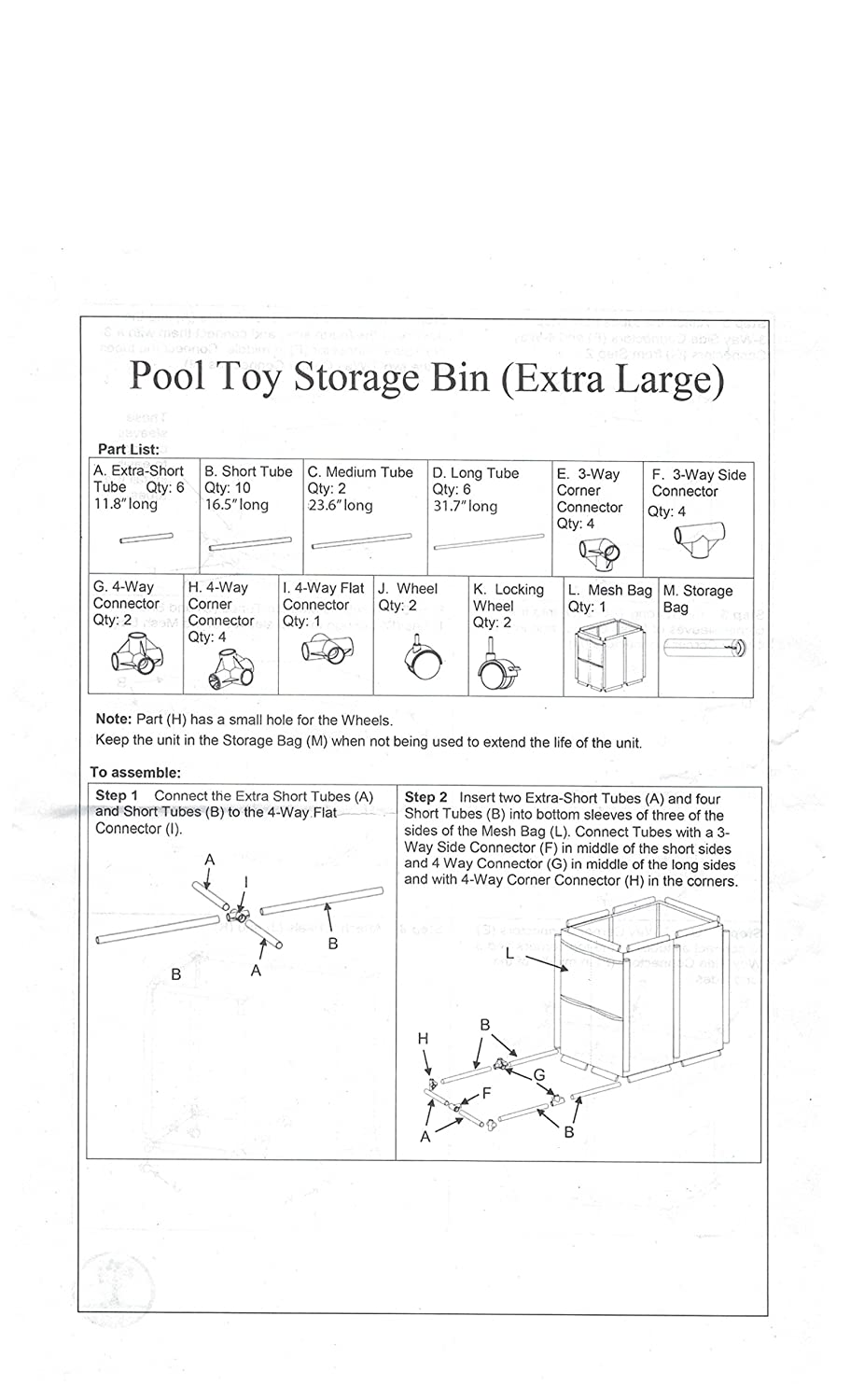Amazon.com : Pool Accessories, Balls And Outdoor Toys Storage Bin   Pool  And Ball Storage Organizer With Nylon Mesh Basket   Hold Beach Towels, ...