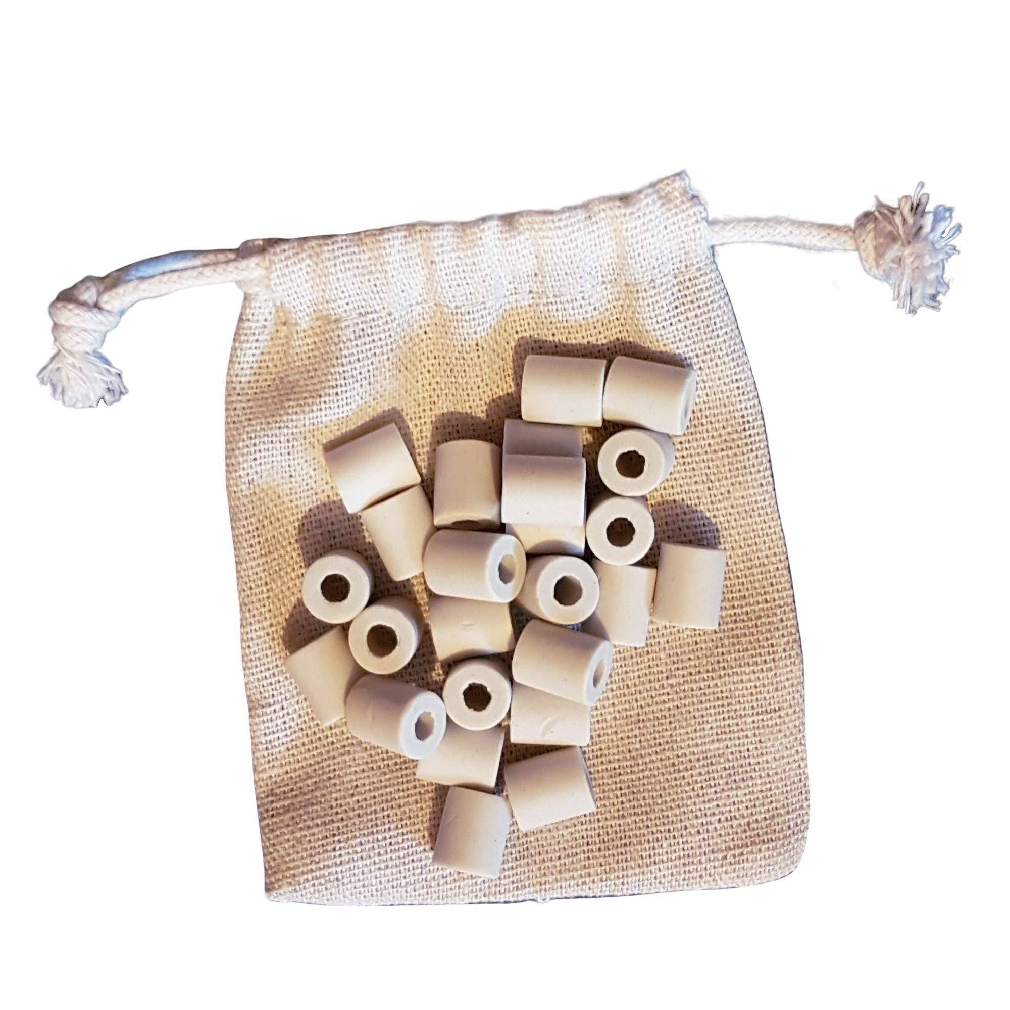 25x Perles CERAMIQUE EM Tubes Micro Organismes Efficaces Kit Filtration Naturel Eau du Robinet Bouteille Carafe Gourde Bouilloire Lave Linge Cafetière Fontaine à Eau Charbon Actif Japon