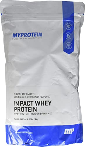 Myprotein Whey Protein Powder, Gluten Free Protein Powder, Amino Acid Supplement for Bodybuilding, GMO Soy Free Protein Powder, Dietary Supplement for Weight Loss, Chocolate Smooth, 2.2 Lbs
