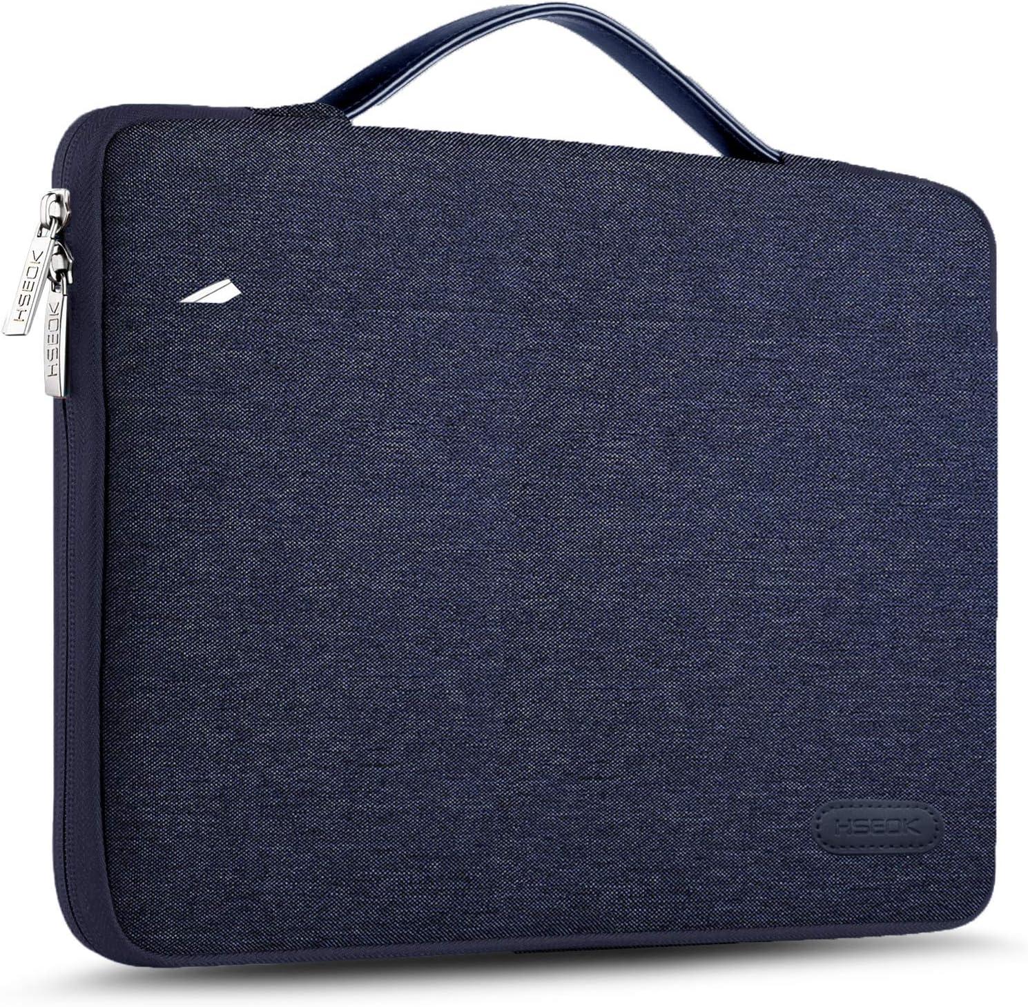 HSEOK 15 15,6 16 Pollici Borsa Portatile Custodia Protettiva Super Sottile Impermeabile Ventiquattrore per MacBook 15 16 e 15-16 dell Lenovo HP ASUS Acer Sony Yoga Jacquard Argento Blu