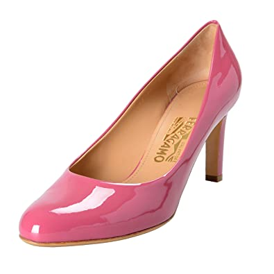 72f5b01541 Image Unavailable. Image not available for. Color: Salvatore Ferragamo  Women's Leo Pink Patent Leather Pumps ...