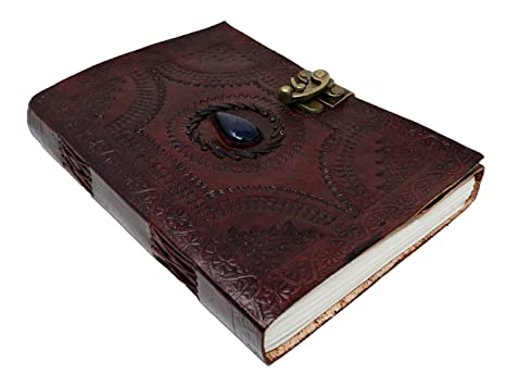 amazon com large leather journal celtic book of shadows blue stone
