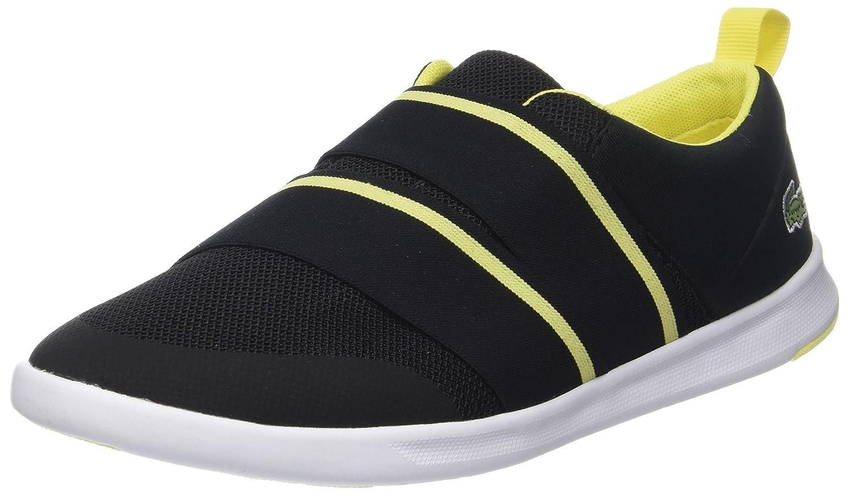 Lacoste Avenir Slip 118 1 SPW, Zapatillas para Mujer 39 EU Negro (Blk/Fluro Ylw)