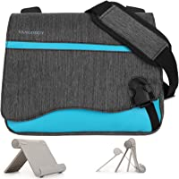 Wave Anti-Theft Sky Blue Messenger Bag for HP Pavilion x2/ElitePad/Pro Tablet/Up To 10.8inch + Universal Tablet Stand