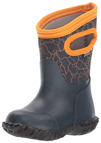 Bogs Durham Kids/Toddler Waterproof Snow Boot for Boys and Girls, Crackle  Print/
