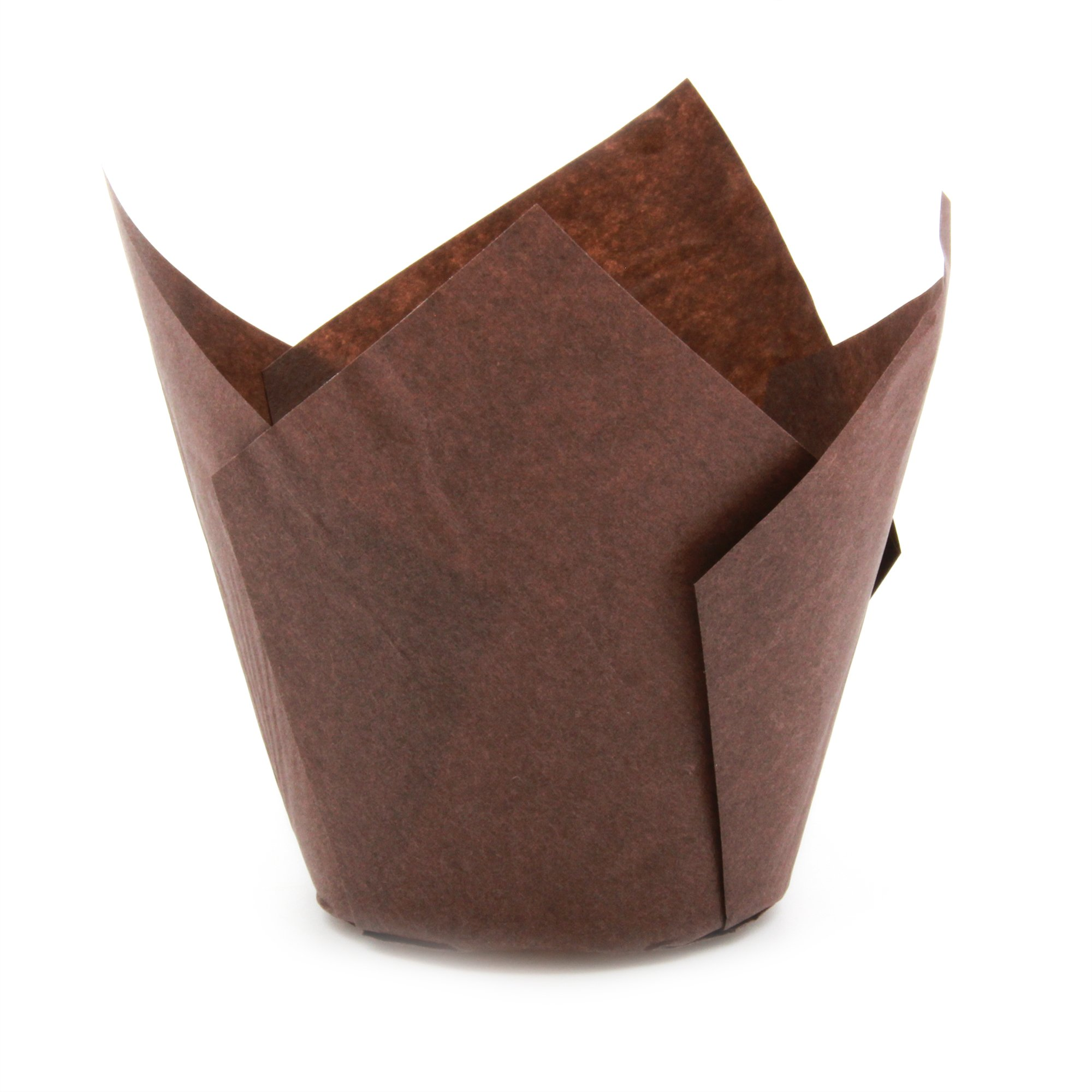 Brown Tulip Baking Cups, Large Size, Pack of 200