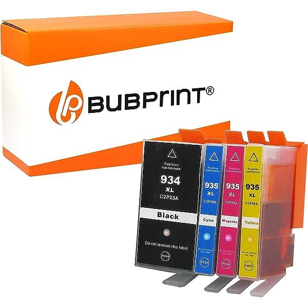 Bubprint 4 Cartuchos de Impresora Compatible con HP 934xl 934XL ...