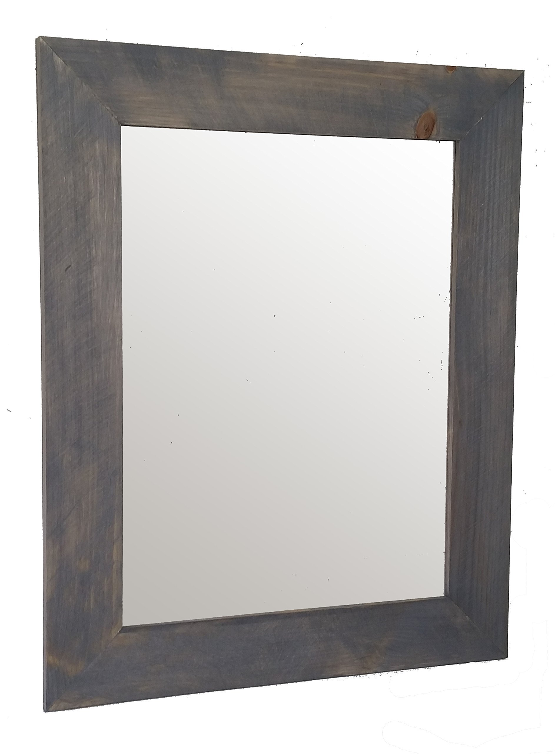 Shiplap Mirror 24 x 30 Vertical Weathered Oak Stain Reclaimed Wood Mirror - Large Wall Mirror - Rustic Modern Home - Home Decor - Mirror - Housewares - Woodwork - Frame by Renewed Decor