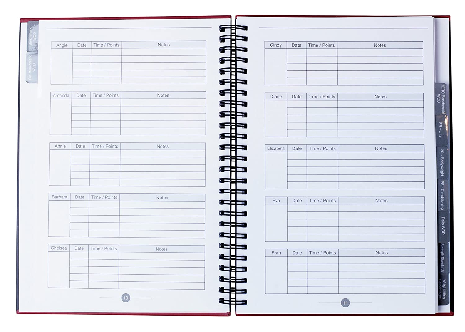 Track Your WOD Journal - The Ultimate Cross Training Tracking Journal. 3rd ed. 6x9 Hardcover w/ pen included. Track 210 WODs, 9 benchmarks + 25 Girls ...