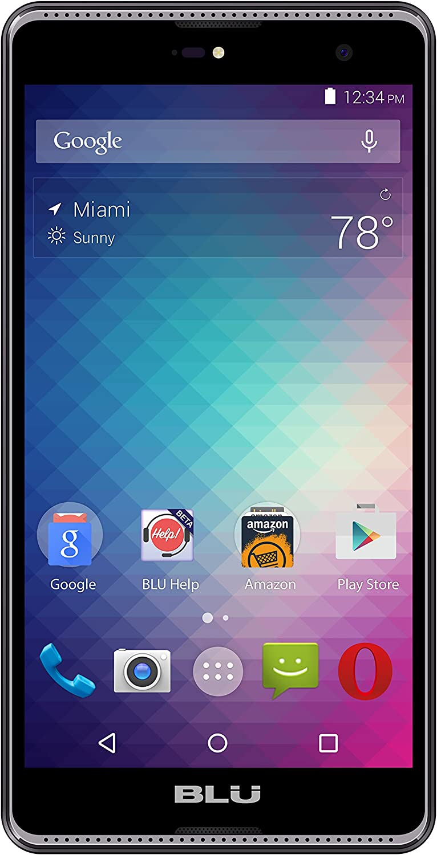 "BLU Grand 5.5"" HD G030U 8GB Unlocked GSM Quad-Core Dual-SIM Android Smartphone w/ 8MP Camera - Gray"