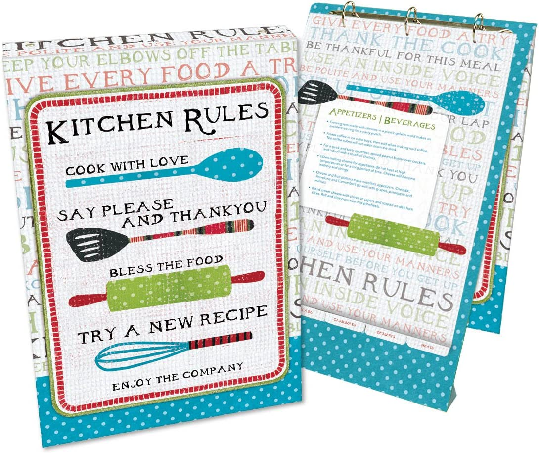 Lang Kitchen Rules Vertical Recipe Card Album by Susan Winget, Assorted