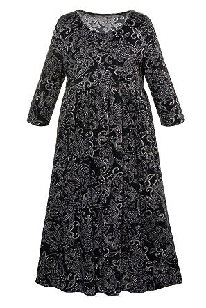 f9726ef8419 Ulla Popken Women s Plus Size Empire Line Print Dress Multi 16 18 711423 90