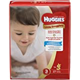 Huggies Little Snugglers Baby Diapers, Size 3, 27 Count, JUMBO PACK (Packaging
