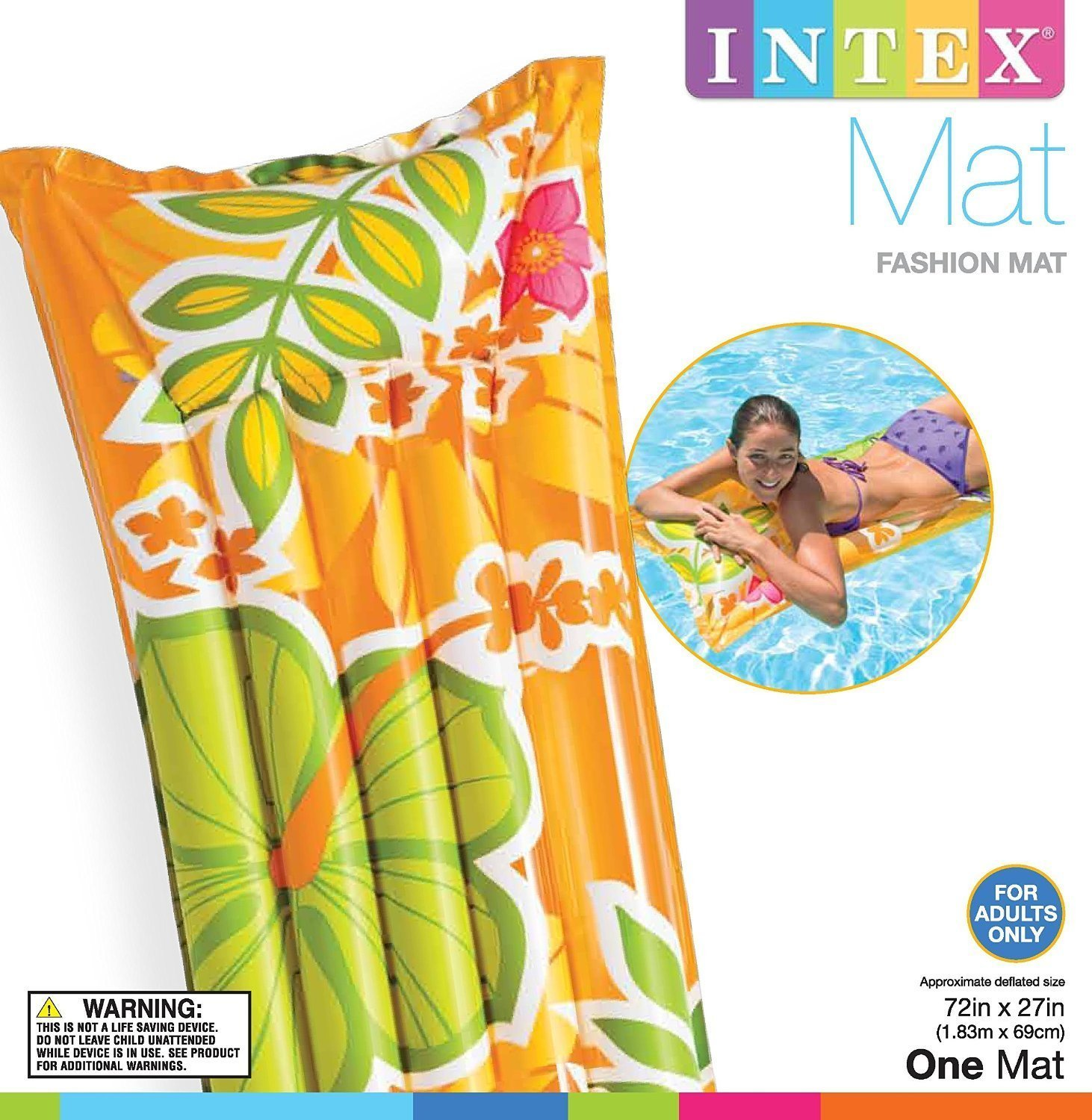 Amazon.com: Intex 59720ep hinchable Fashion de aire, 72