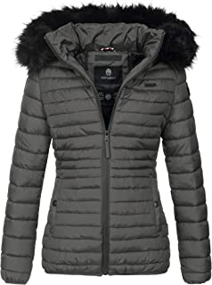 Navahoo Damen Jacke Winter Kurz Mantel Nimmersatt warm gefüttert Stehkragen