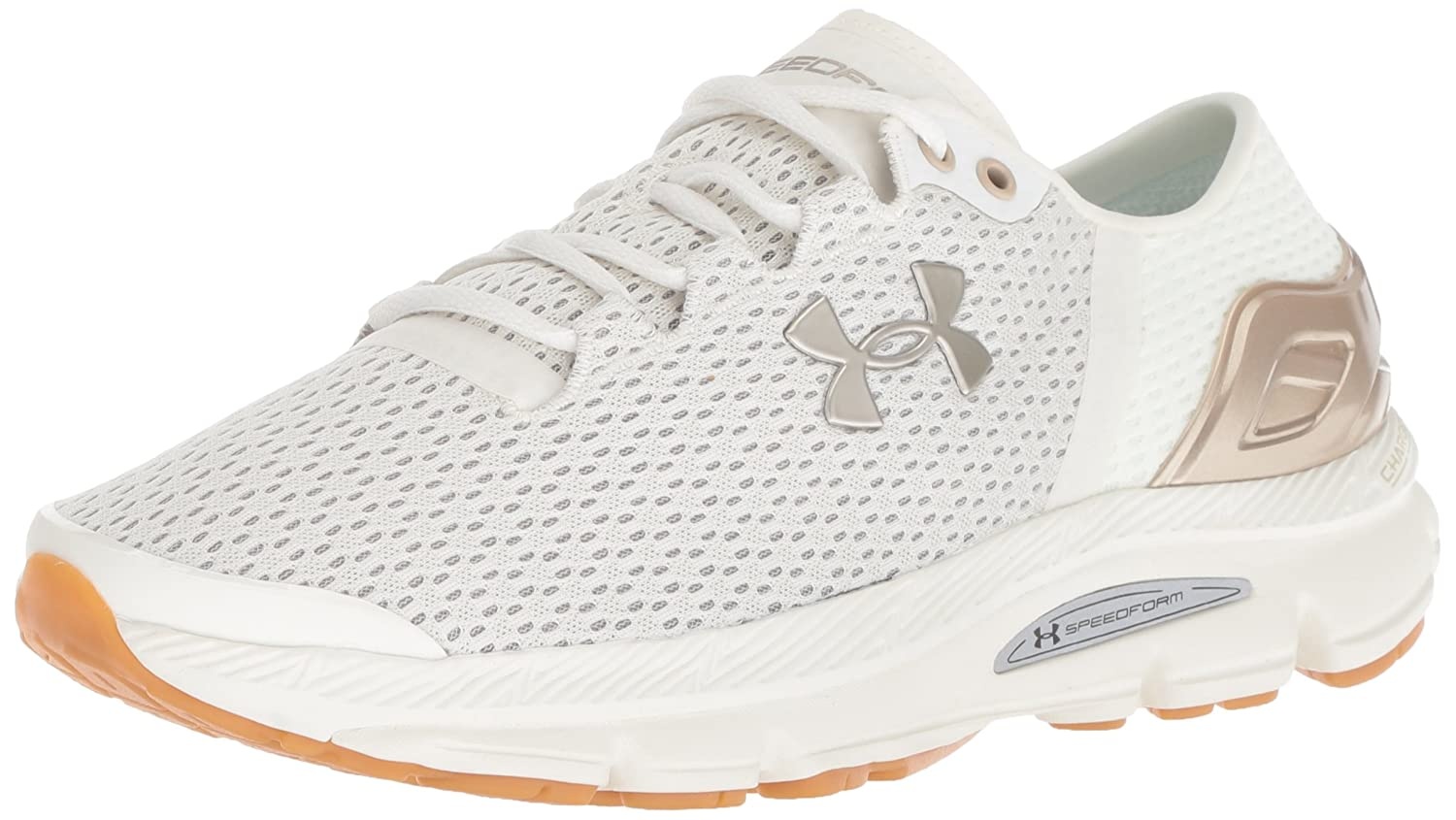 Under Armour Women's Speedform Intake 2 Running Shoe B0775YZY7J 5.5 M US|Ivory (102)/Ghost Gray