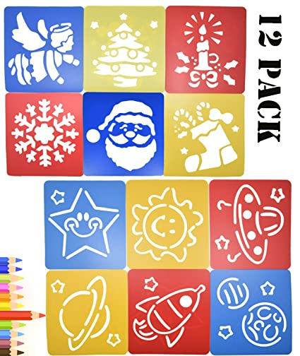 amazon com painting stencil plastic planets christmas dinosaur