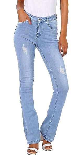 Goodies Vaqueros Bootcut para Mujer Pantalones Jeans Corte ...