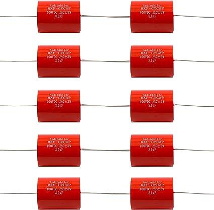 10 X AUDIOPHILER 3.3uF 400V //-3/% MKP METALLISED POLYPROPYLENE FILM CAPACITOR