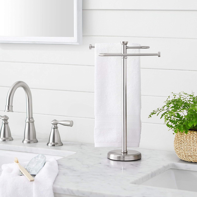 S-f/örmiger Handtuch-Halter Badezimmer-Zubeh/ör-Kollektion Basics klassisch rund