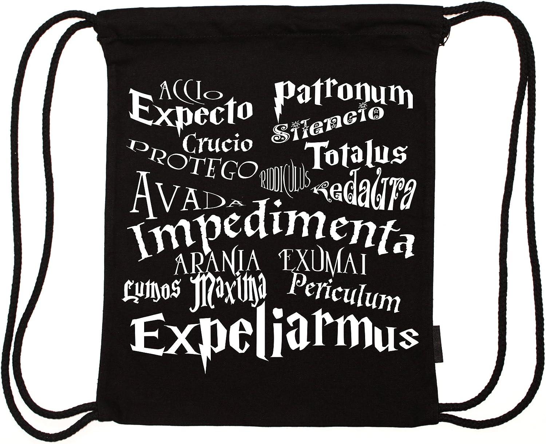 my-tagshirt Mochila de cordones, de algodón biológico, diseño de ...