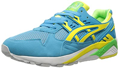 ASICS Men's Gel-Kayano Trainer Retro Running Shoe, Atomic Blue/Blazing  Yellow,