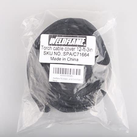 W x4 with Zipper for Torch 18 and 26 L WeldingCity TIG Welding Torch Cable Cover Nylon 12