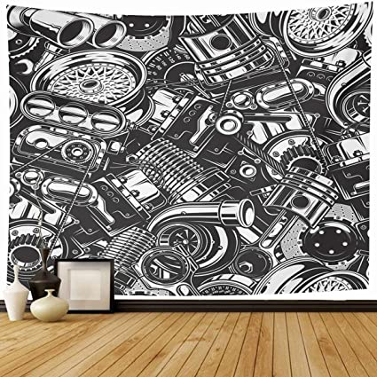 Amazon Com Ahawoso Tapestry Wall Hanging 80 X60 Machine Turbo