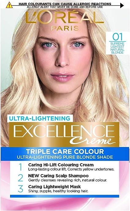 L Oréal Paris excelencia crema color del pelo ligero Natural ...