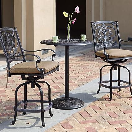 Magnificent Amazon Com Darlee Santa Barbara 3 Piece Cast Aluminum Patio Spiritservingveterans Wood Chair Design Ideas Spiritservingveteransorg