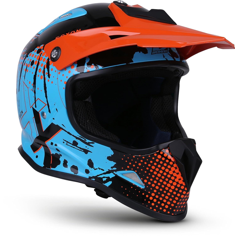 NENKI NK-303 Kinder Motocross Offroad Helm F/ür Kinder Dirt Bike