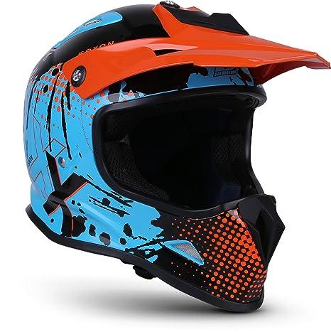 "Soxon® SKC-33 ""Fusion Orange"" · Kinder-Cross-Helm · Motorrad-Helm MX Cross-Helm MTB BMX Downhill · ECE Schnellverschluss Slim"