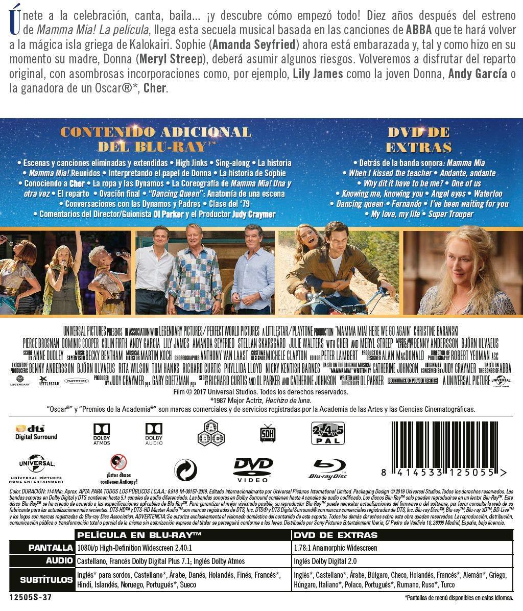 Mamma mia! Una y otra vez (BD + DVD Extras) [Blu-ray]: Amazon.es ...