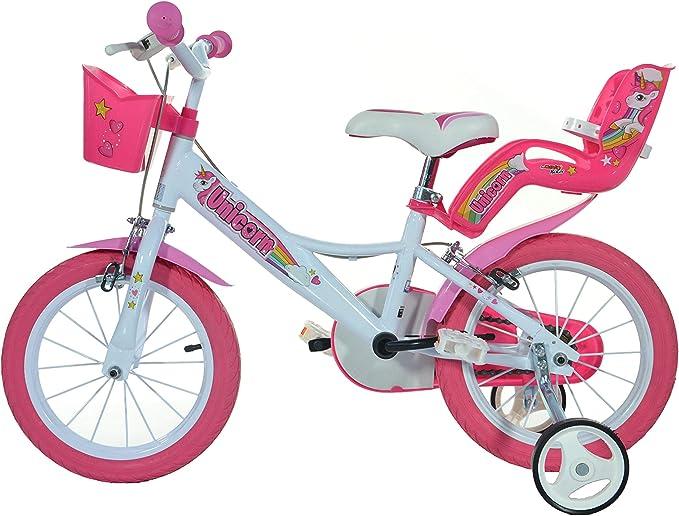 "Dino Bikes 164R-UN Unicorn 16/"" Bicycle 16/'/' White /& Pink"