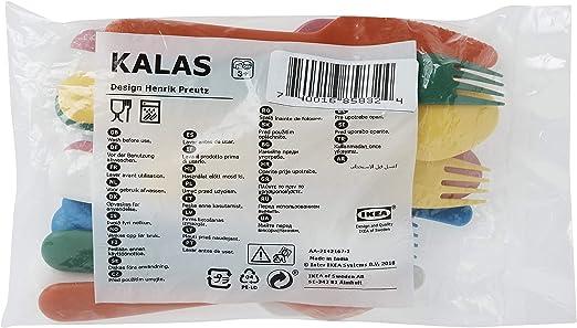 Ikea Cubertería, Multicolor, 18x14x3 cm, 18 Unidades