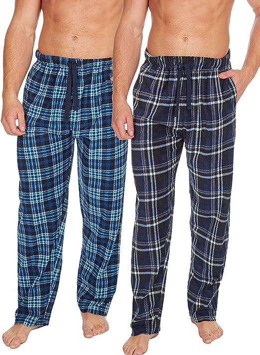 Insignia 2 Paquete Polar Hombre Cuadros Pijamas Salón Pantalones