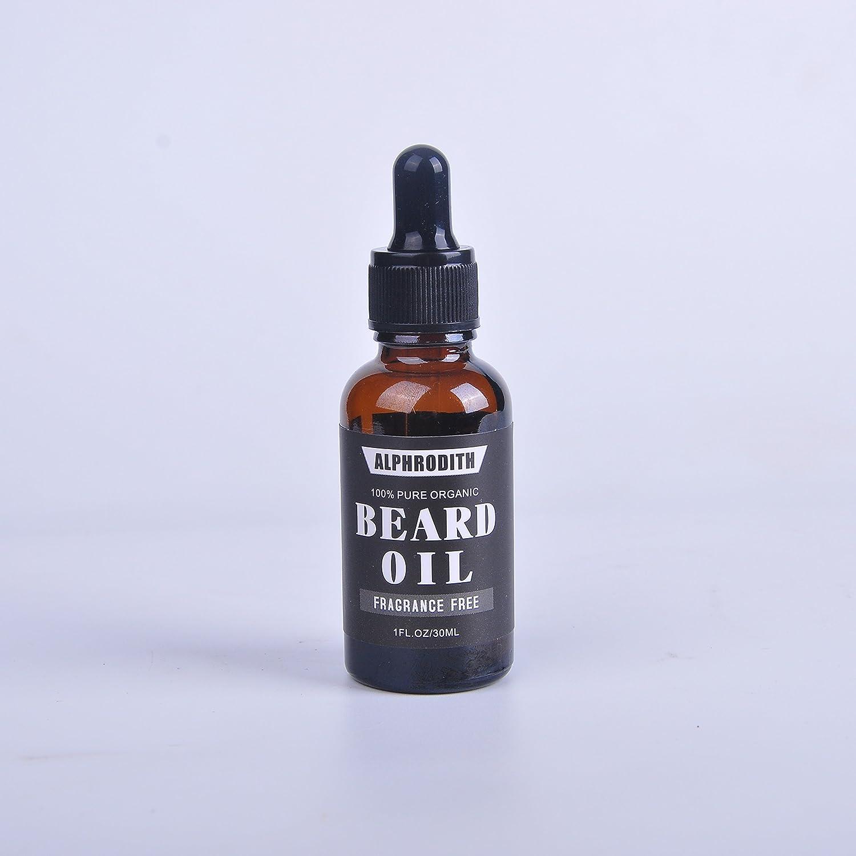 alphrodith Duft Frei Bart Öl & Leave In Conditioner 100% reinen, natürlichen Organic für gepflegte Bärte, weich Schnurrbart & mit Feuchtigkeit versorgt Haut 1Oz/30Ml für HERREN