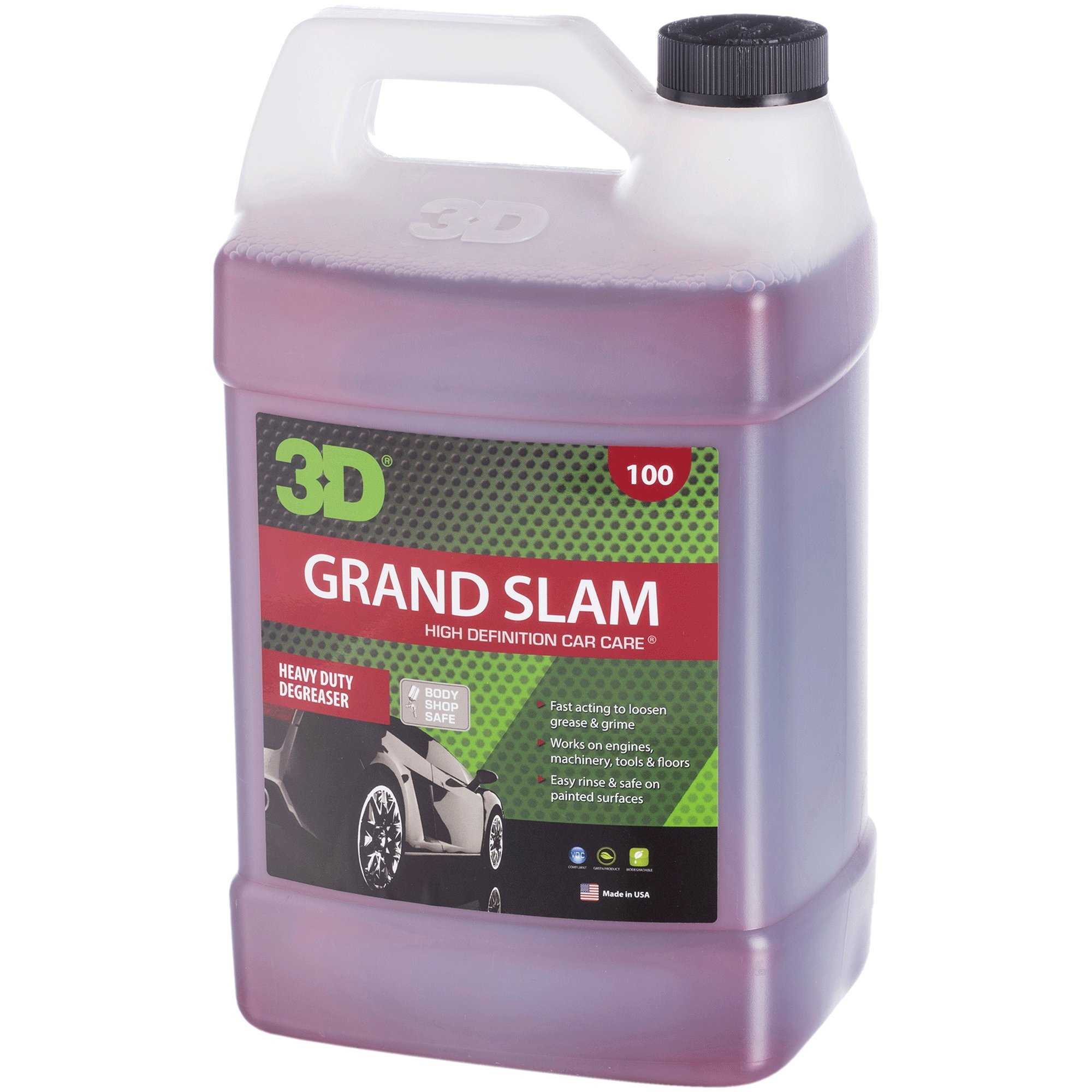 3D Grand Slam Engine Degreaser - 1 Gallon | Heavy Duty Industrial Cleaner & Degreaser | Removes Grease & Oil | Non Toxic & Biodegradable | Made in USA | All Natural | No Harmful Chemicals by 3D Auto Detailing Products