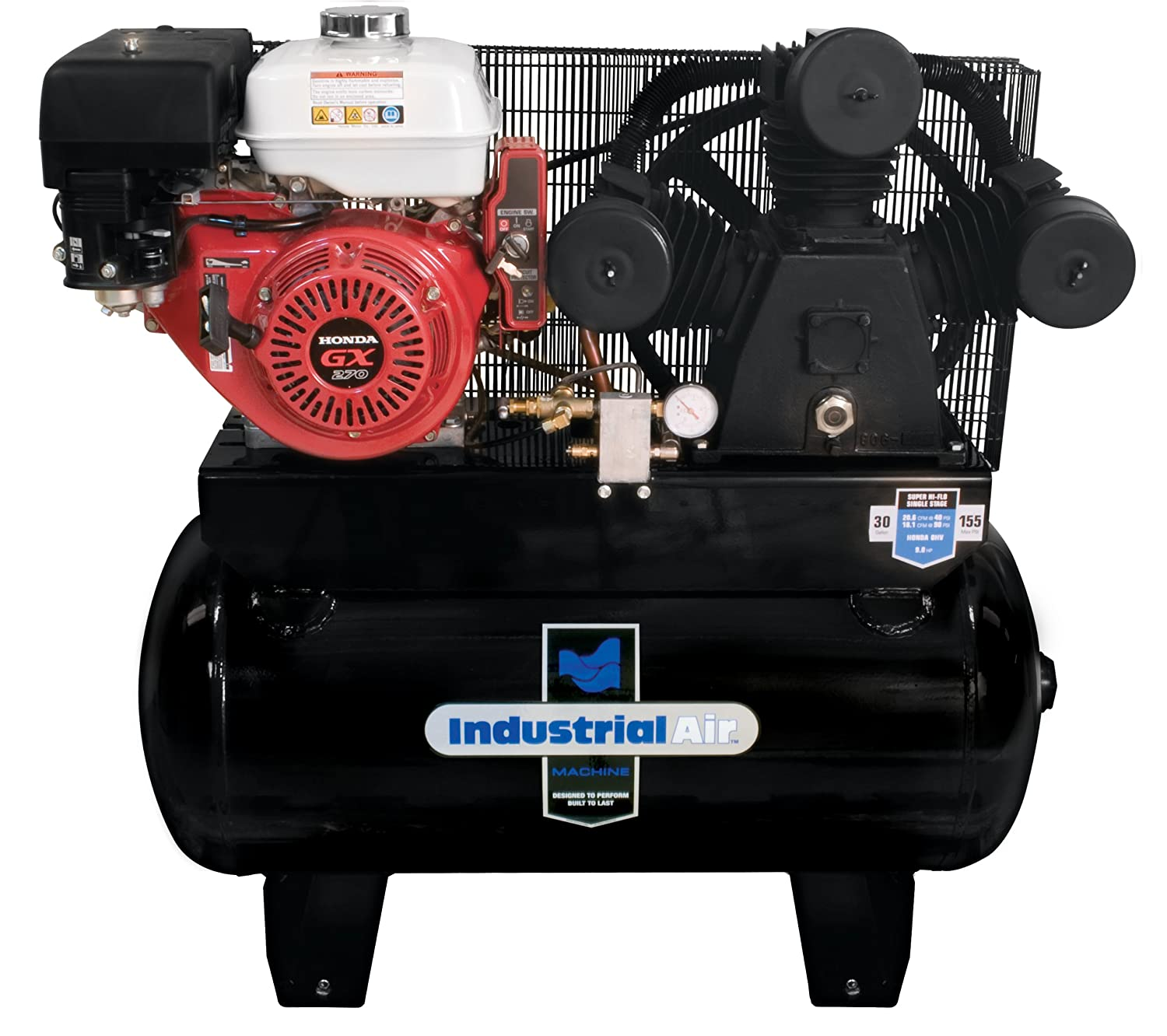 best 30 gallon gas air compressor
