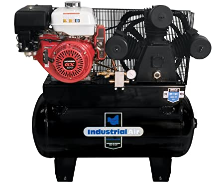<strong>Industrial Air IHA9093080.ES 30-Gallon Gas Powered Truck Mount Air Compressor with Electric Start</strong>