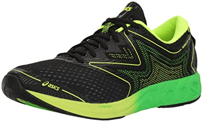 ASICS Men's Noosa FF Running Shoe, Black/Green Gecko/Safety Yellow, 7
