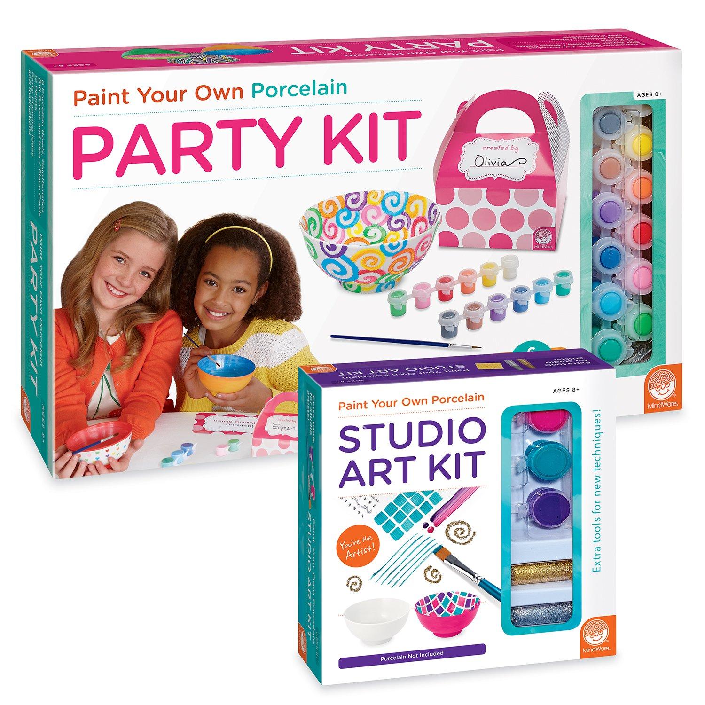 MindWare Paint Your Own Porcelain Party Kit Set of 2
