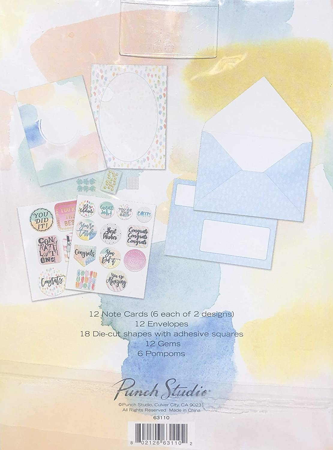 Congrats Collection Create a Card Makes 12 Custom Cards Punch Studio 63110 Note Cards Envelopes 12