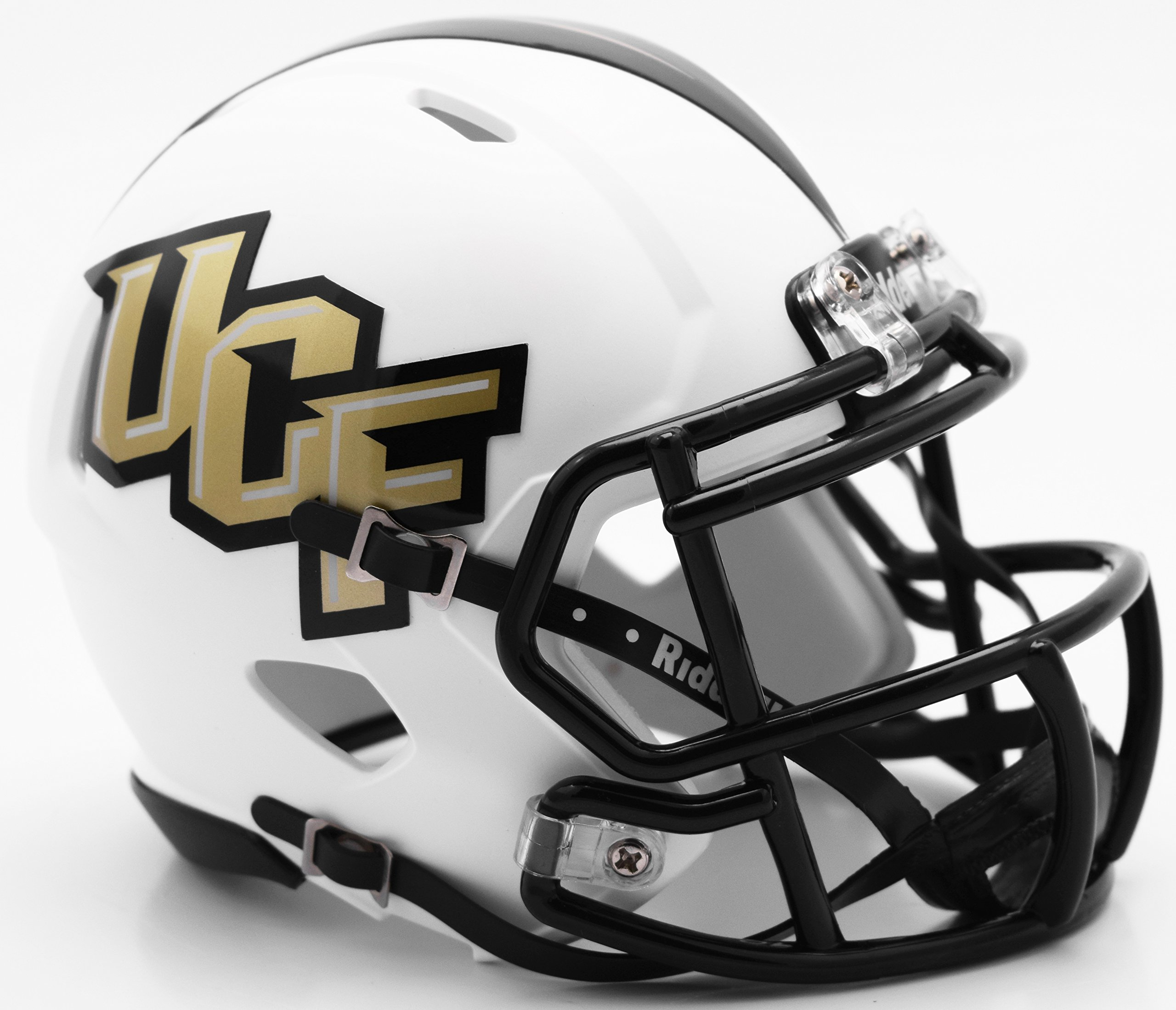 UCF Central Florida Knights White Matte Finish Riddell Speed Mini Football Helmet New in Riddell Box