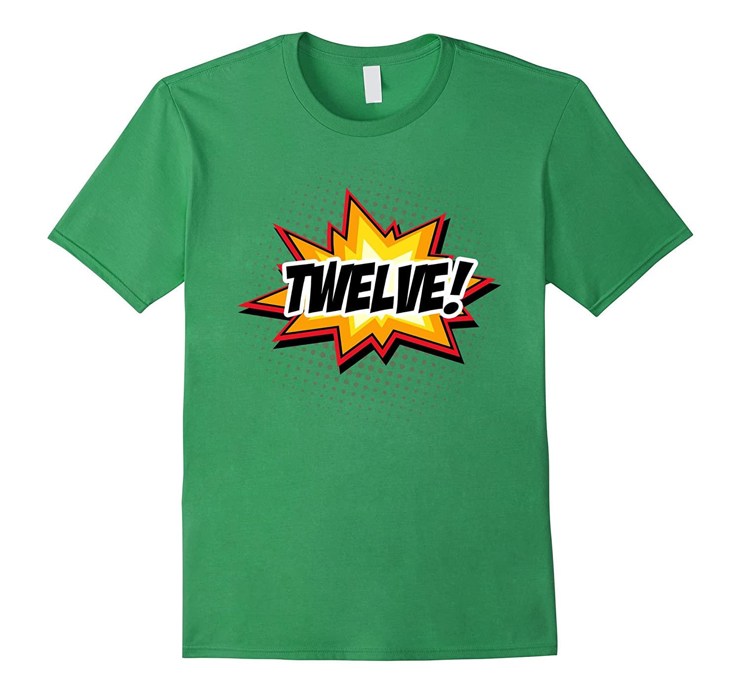 SuperHero Birthday Shirt 12 Year Old Boys And Girls ALL AGES TH